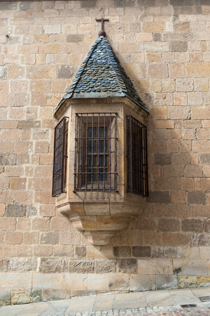 gazer: oriel window in a Renaissance building Stock Photo