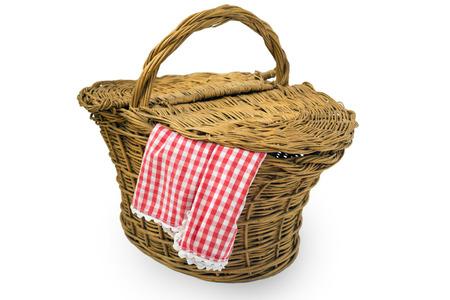 splint: Cesta de picnic aislado sobre fondo blanco
