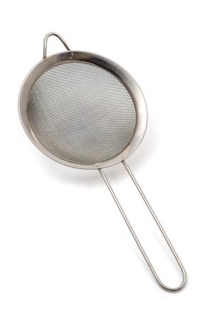 utensilios de cocina: Colador aislado sobre fondo blanco