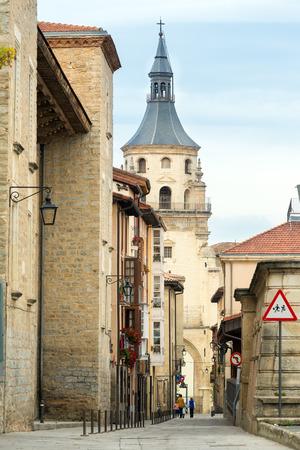 vitoria: VITORIA-GASTEIZ, SPAIN - OCTOBER 16, 2016: View of Cathedral of Santa Maria de Vitoria. Vitoria-Gasteiz, Spain Editorial