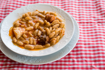 typical: Fabada a typical dish of Spanish cuisine