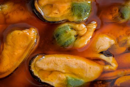 tin: open mussels tin closeup