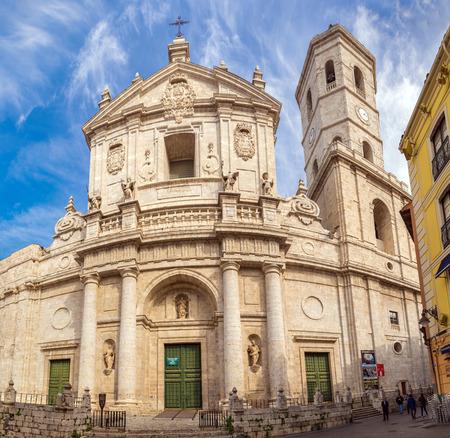 VALLADOLID, SPAIN - NOVEMBER 1, 2016: Cathedral of Our Lady of the Holy Assumption (Catedral de Nuestra Senora de la Asuncion) Editorial