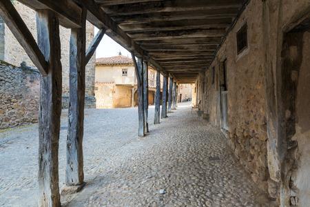 CALATANAZOR, SORIA , SPAIN - NOVEMBER 3, 2016: medieval village of Calatanazor, Soria province, Castilla Leon, Spain Editorial