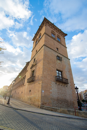 SORIA, SPAIN - NOVEMBER 2, 2016: Palace of the Counts of Gomara is the most representative building of Renaissance civil architecture of the city of Soria