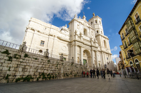 castile: VALLADOLID, SPAIN - NOVEMBER 6, 2016: Cathedral of Our Lady of the Holy Assumption (Spanish: Catedral de Nuestra Señora de la Asunción), better known as Valladolid Cathedral, is a Roman Catholic cathedral in Valladolid, Spain.
