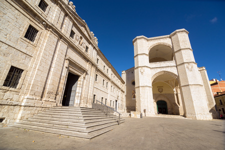 benedictine: VALLADOLID, SPAIN - NOVEMBER 7, 2016: The church of San Benito el Real, of the Benedictine order, is one of the oldest temples of Valladolid.