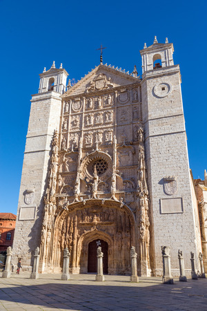 VALLADOLID, SPAIN - NOVEMBER 7, 2016: Facade of the San Pable Church  in Valladolid, Castile and Leon, Spain