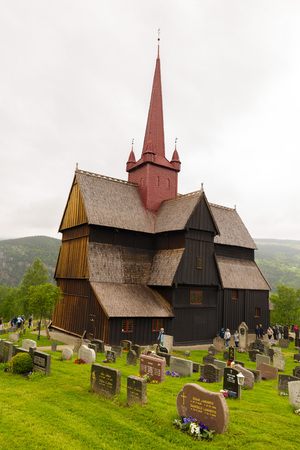 The stave church at Ringebu, built around the year 1220, is one of fewer than 30 surviving stave churches and is one of the largest.