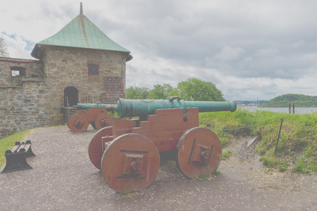was: Akershus Fortress or Akershus Castle is a medieval castle that was built to protect Oslo, the capital of Norway. It has also been used as a prison. Stock Photo