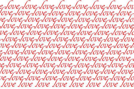 love inscription on a white background, seamless pattern for printing design.