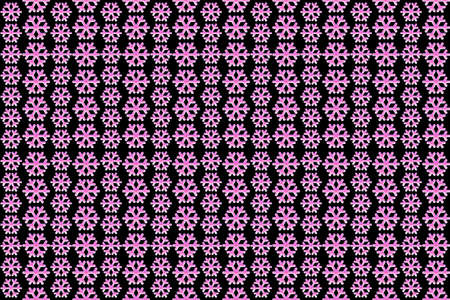 snowflakes on a black background, seamless pattern for printing design.