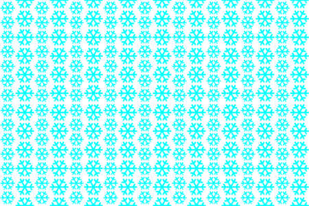 snowflakes on a green background, seamless pattern for printing design. Standard-Bild