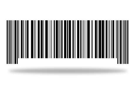 barcode on a white background with a shadow. Standard-Bild