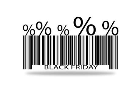 barcode black friday on a white background.