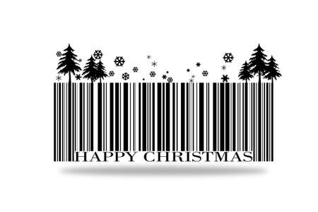 barcode happy christmas on a white background.