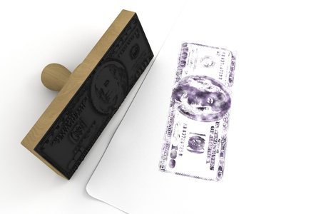 enact: rubber stamp   100  isolated at the white background