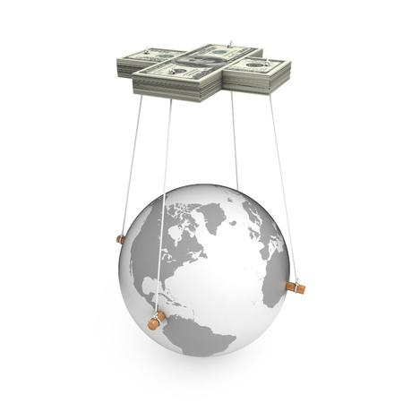 Metaphorical image of manipulation, control, Global Business Stock Photo