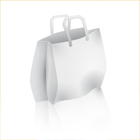 Shopping bag isolated on white.
