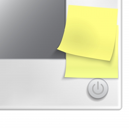 Yellow stick note  on a monitor