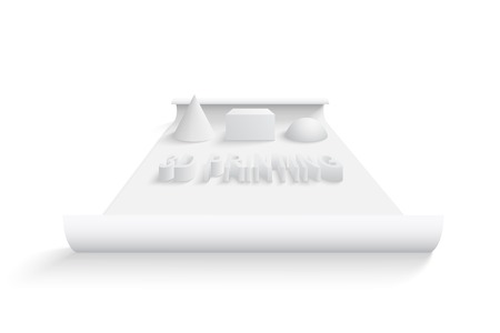 the latest models: 3D printing concept. EPS 10