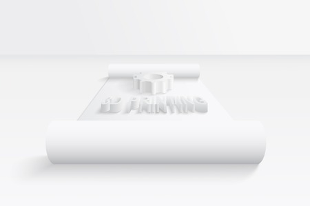 3D printing concept. EPS 10