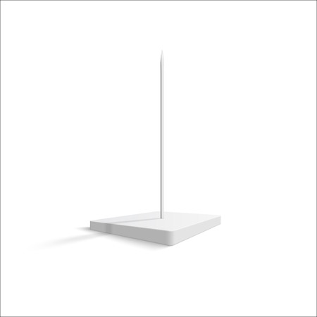 Paper spike on a white background