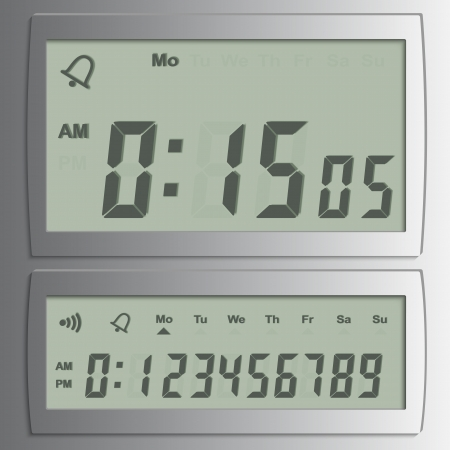 detailed illustration of a digital  numbers on a LED-Digits Illustration