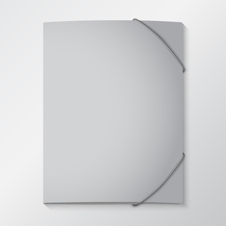 elastic: Folders with elastic bands. EPS 10