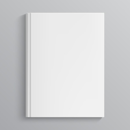 Blank book cover vector illustration. Isolated object Illustration