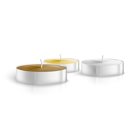 Candles isolated on white background