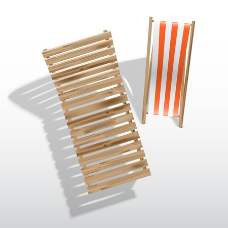 Sun loungers, isolated on white background