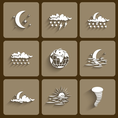 Weather Icon set with shadows