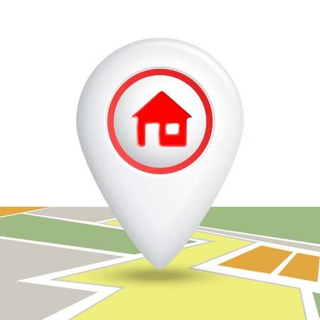 Home Map Location Icon. Vector