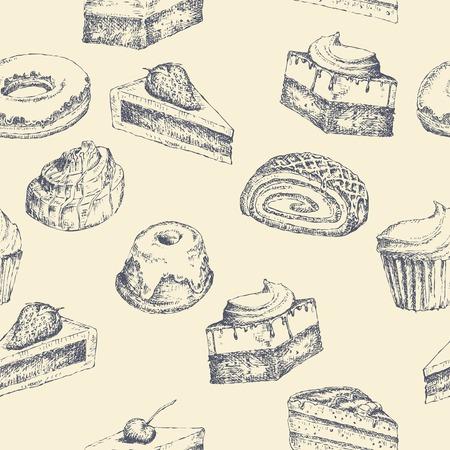 cake background: Seamless cake background Illustration