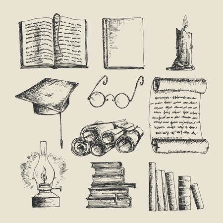 Education sketch icons