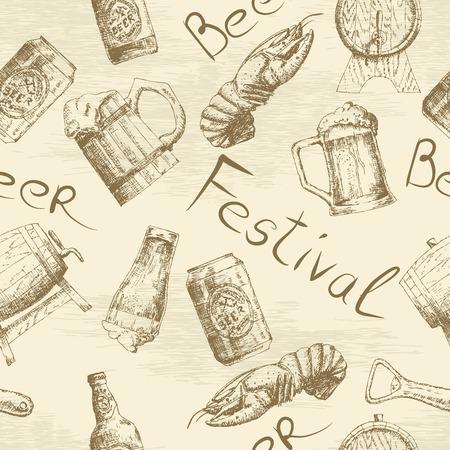 Sketch beer pattern
