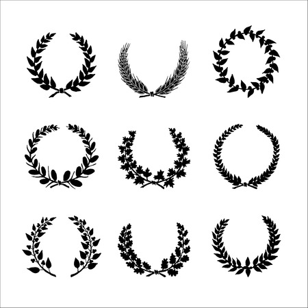 distinction: Circular laurel wrearhs