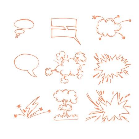 Comic Book Elements Illustration