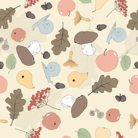Seamless autumn background Vector