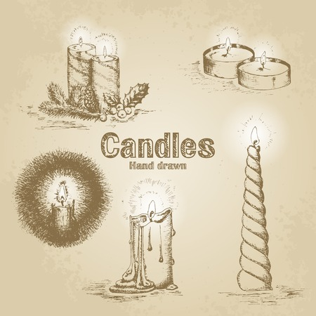 candles: Set of vintage candle