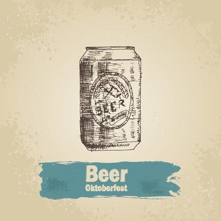 bier: Oktoberfest vintage background