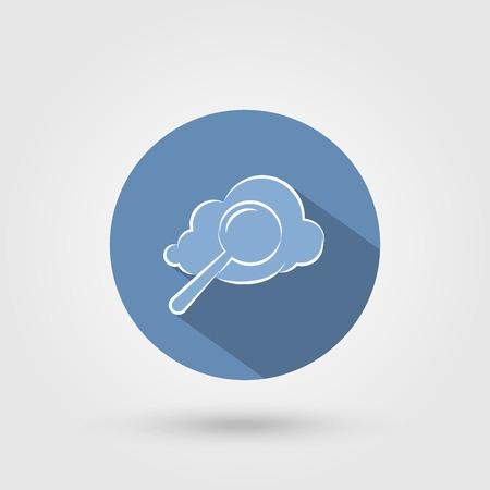 Cloud search icon Illustration