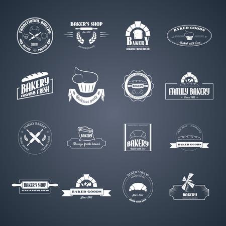 Set of bakery logos.