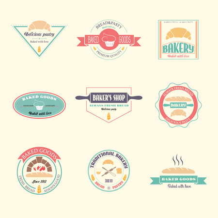 Set of vector bakery