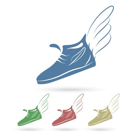 running shoe: Eccesso di velocit� in esecuzione icone di scarpe