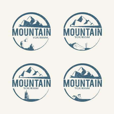 Logotipos turismo de montaña Foto de archivo - 41217495