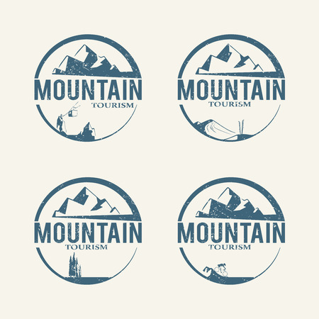 water logo: Mountain tourism logos