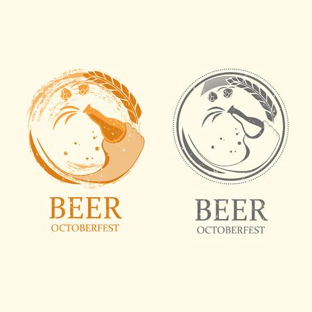 bier festival: Vector octoberfest logos Illustration