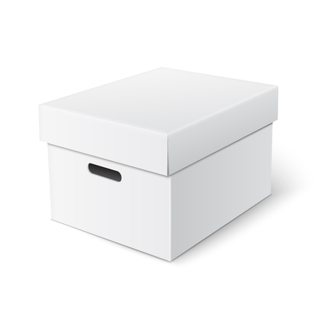 tare: Realistic box with hand holes and cover template